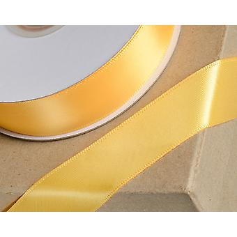 25m Marigold Yellow 15mm Wide Satin Ribbon for Crafts