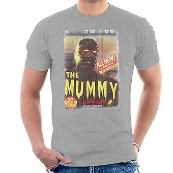 Hammer The Mummy 1959 Film Poster Men's T-Shirt