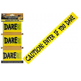 3 Lengths Of 3 Meters Halloween Printed Fright Tape Halloween Decoration
