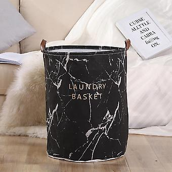 Cotton And Linen Dustproof Laundry Basket Collecting Bucket Hamper - Toy Dirty Clothes Storage Organizer With Closure