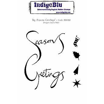 IndigoBlu Big Seasons Saudações A6 Selo de Borracha