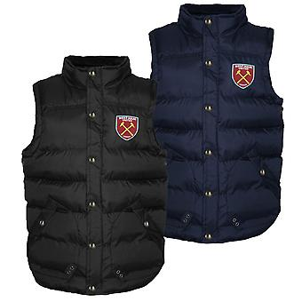 West Ham United Mens Gilet Jacket Body Warmer Padded OFFICIAL Football Gift