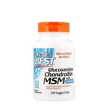 Doctor's Best, Glucosamine Chondroitin MSM with OptiMSM, 120 Veggie Caps
