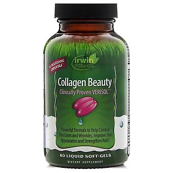Irwin Naturals, Collagen Beauty, Clinically Proven Verisol, 80 Liquid Soft-Gels