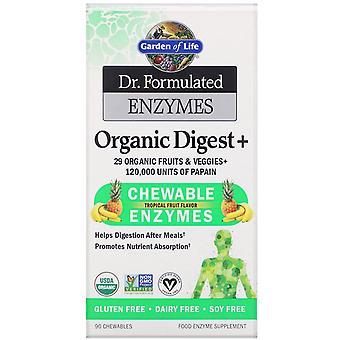 Jardín de la Vida, Dr. Enzimas Formuladas, Digerido Orgánico +, Sabor a Frutas Tropicales,
