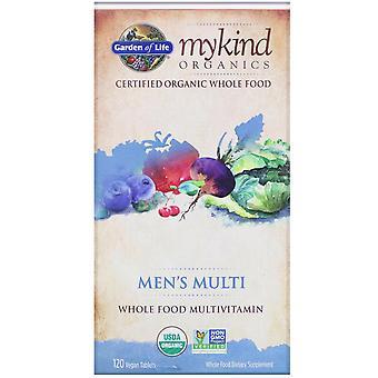 Jardín de la Vida, MyKind Orgánicos, Hombres's Multi, Multivitamínico de Alimentos Enteros, 120 Vegano