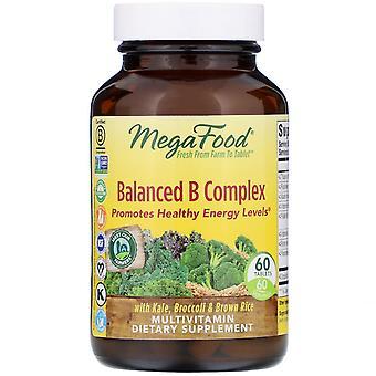 MegaFood, Balanced B Complex, 60 tabletten