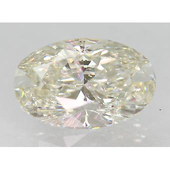 معتمد 1.51 قيراط H VVS2 البيضاوي المحسن الطبيعية فضفاضة الماس 9.34x6.08mm 2VG