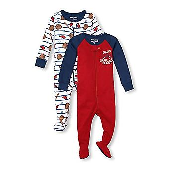 The Children's Place Baby Boys 3 Pack Novelty Printed Long Sleeve Footed Slee...