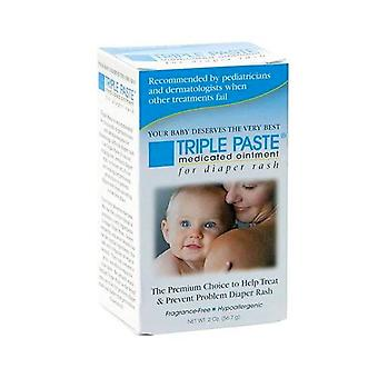 Triple paste medicated ointment for diaper rash, 2 oz *