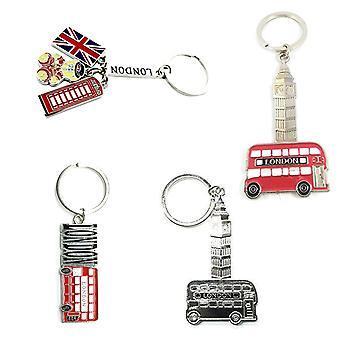 Metal London Souvenir Keyring - zestaw 4 -Kolekcja 3