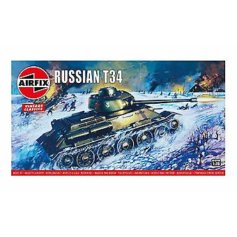 Russian T34 1:76 Vintage Classic Military Air Fix Model Kit