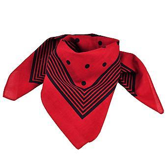 Krawatten Planet rot mit Marine blau Streifen & Polka Dot Bandana Neckerchief