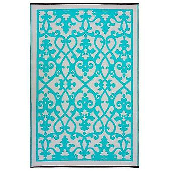 Venice Turquoise Recycled Plastic Outdoor Rug And Mat
