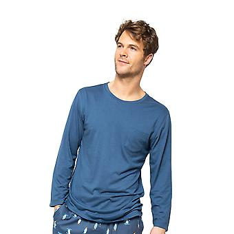 Cyberjammies Arthur 6530 Männer's Blau stricken Pyjama Top