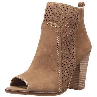 Lucky Brand Womens LK-Lakmeh Nubuk Peep Toe Mode Stiefeletten
