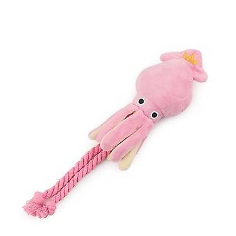 Octopus Cute Bb Plush Pet Puppy Rope Pink Chew Squeak