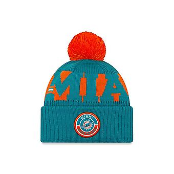 Ny æra Nfl Miami Dolphins Officielle 2020 Sideline Home Sport Beanie Knit