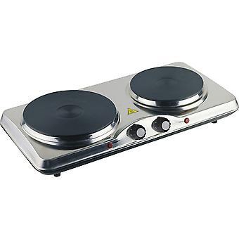 Daewoo Dubbele roestvrijstalen kookplaat