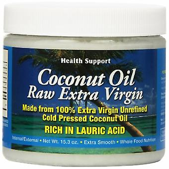 Health Support Raw Extra Virgin Coconut Oil, 16 Oz
