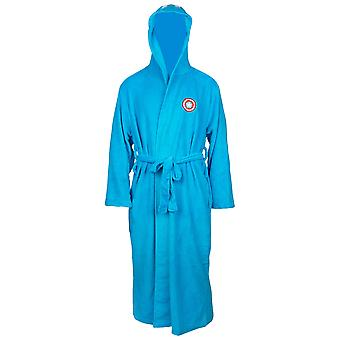 Capitão América Marvel Fleece Hooded Bathrobe