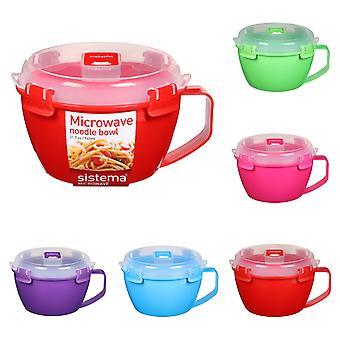 Sistema Klip It Microwave Noodle Bowl, 940ml, Green