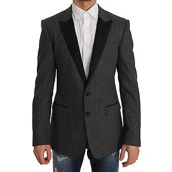 Gray striped martini slim blazer j56015447