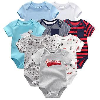 Rompers s krátkým rukávem - Novorozená dětská kombinéza a oblečení (set-2)