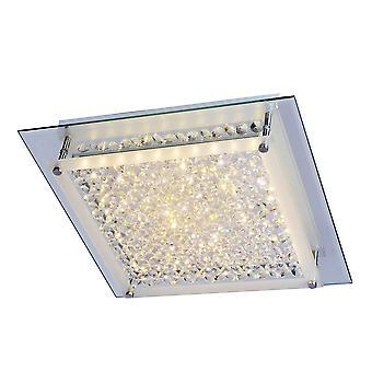 Classique LED Flush Ceiling Light Chrome, Warm White 3000K 1360lm