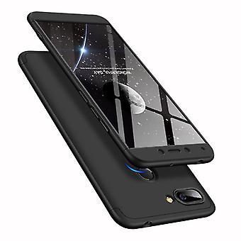 الاشياء المعتمدة® Xiaomi Redmi 5 غطاء كامل - 360 ° حالة الجسم + حامي الشاشة الزجاجي خفف الأسود