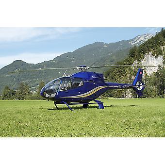 Eurocopter EC130 leichte Transporthubschrauber Mollis Militärflugplatz der Schweiz Poster Print
