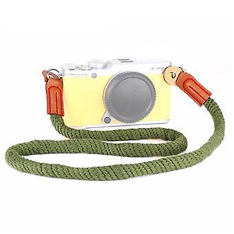 Vintage Cotton Soft Shoulder Neck Strap for Leica, Nikon, Fuji, Canon, Panasonic, Sony etc. Mini Cameras(Army Green)