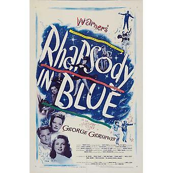 Rhapsody in Blue Movie Juliste Tulosta (27 x 40)