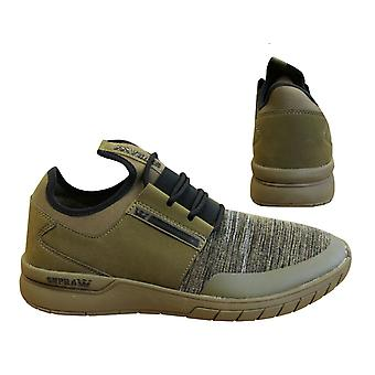 Supra Flow Run Olive Green Lace Up Casual Mens Running Trainers 08021 950 B84D