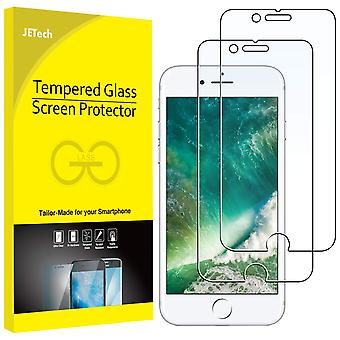 Jetech screen protector for apple iphone 8 plus and iphone 7 plus tempered glass film, 2-pack