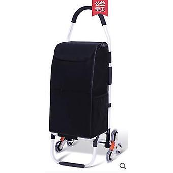 Trolley Cart Elderly Stairs Shopping Cart On Wheels Woman Shopping Basket  Bags