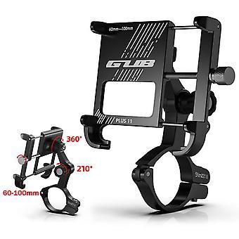 Gub plus 11 360° rotazione esterno vlog registrazione in lega di alluminio motocicletta manubrio per telefono cellulare supporto per dispositivi 6-10cm larghezza