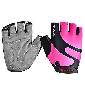 Men Bicycle Glove, Cycling Sports Breathable Women Mtb Bike Half Finger Sponge
