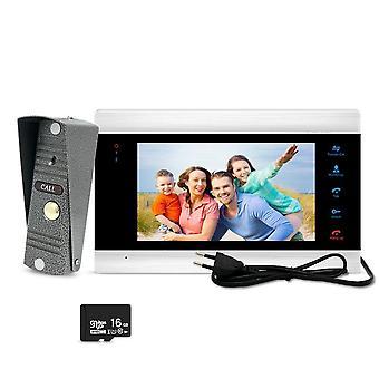 Video Door Phone Doorbell Intercom System Photo Enregistrement vidéo Taking Silver