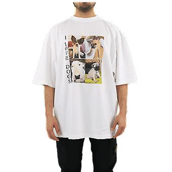 Balenciaga XL T-Shirt Woof White 641614TJVH19000 Top