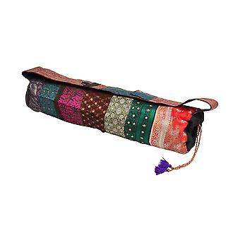 Brocade Yoga Mat Bag - Unique, Patchwork, Multi