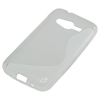 OTB TPU case compatible with Samsung Galaxy ACE 4 G313H S-curve transparent