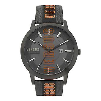 Versus by Versace Men's Watch Wristwatch Barbes Solar VSPHN120 Leather / Textile