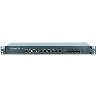 Network Security Server 1u Firewall Pc With 8 Ports Gigabit Lan 4 Spf I5 4430