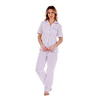 Slenderella PJ77105 Women's Floral Cotton Pyjama Set
