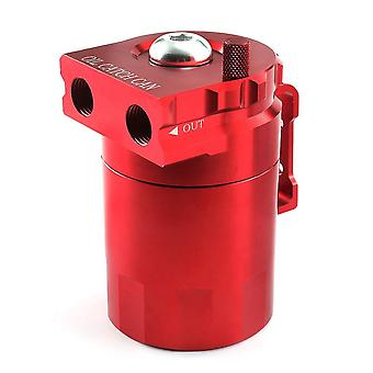 Aluminum universal oil catch can tank with breather reservoir filter baffled