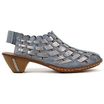 Rieker azur grigio sandali donne