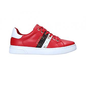 Women's Shoes Sneaker Guess Reel 4g Red Logo Ds21gu23 Fl5reeele12