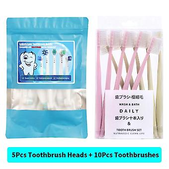 Replacement Toothbrush Heads With Protecting Covers