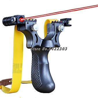New Resin Slingshot Laser Aiming Slingshot With Flat Rubber Band